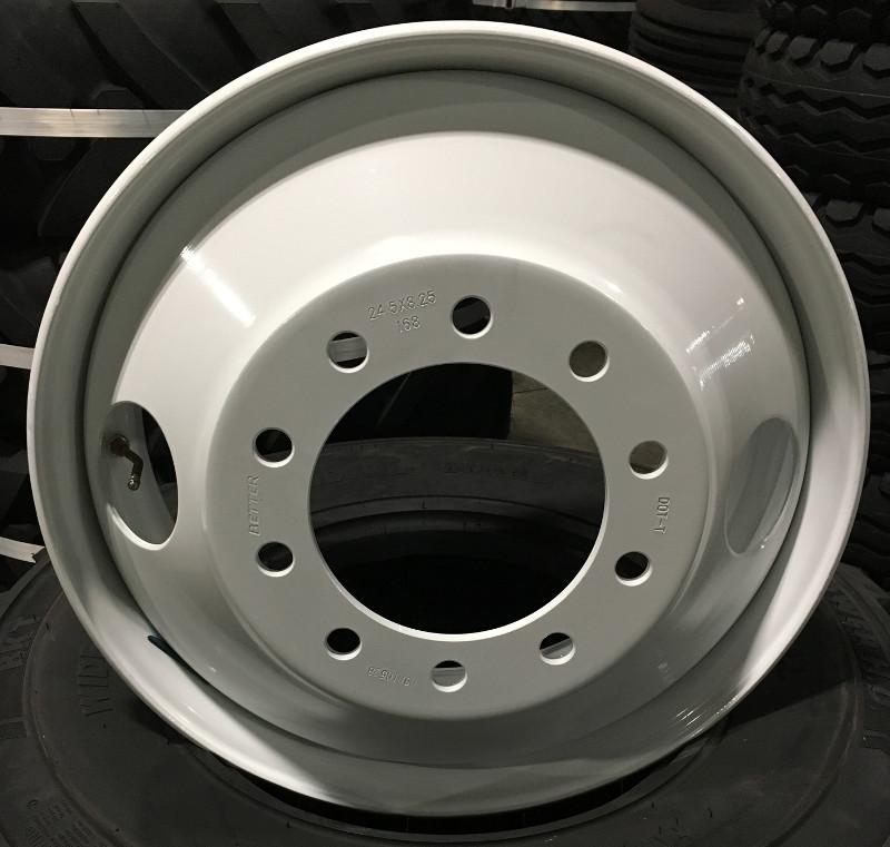 Truck Mud Tires >> 24.5x8.25 Steel Hub Pilot Truck Wheel