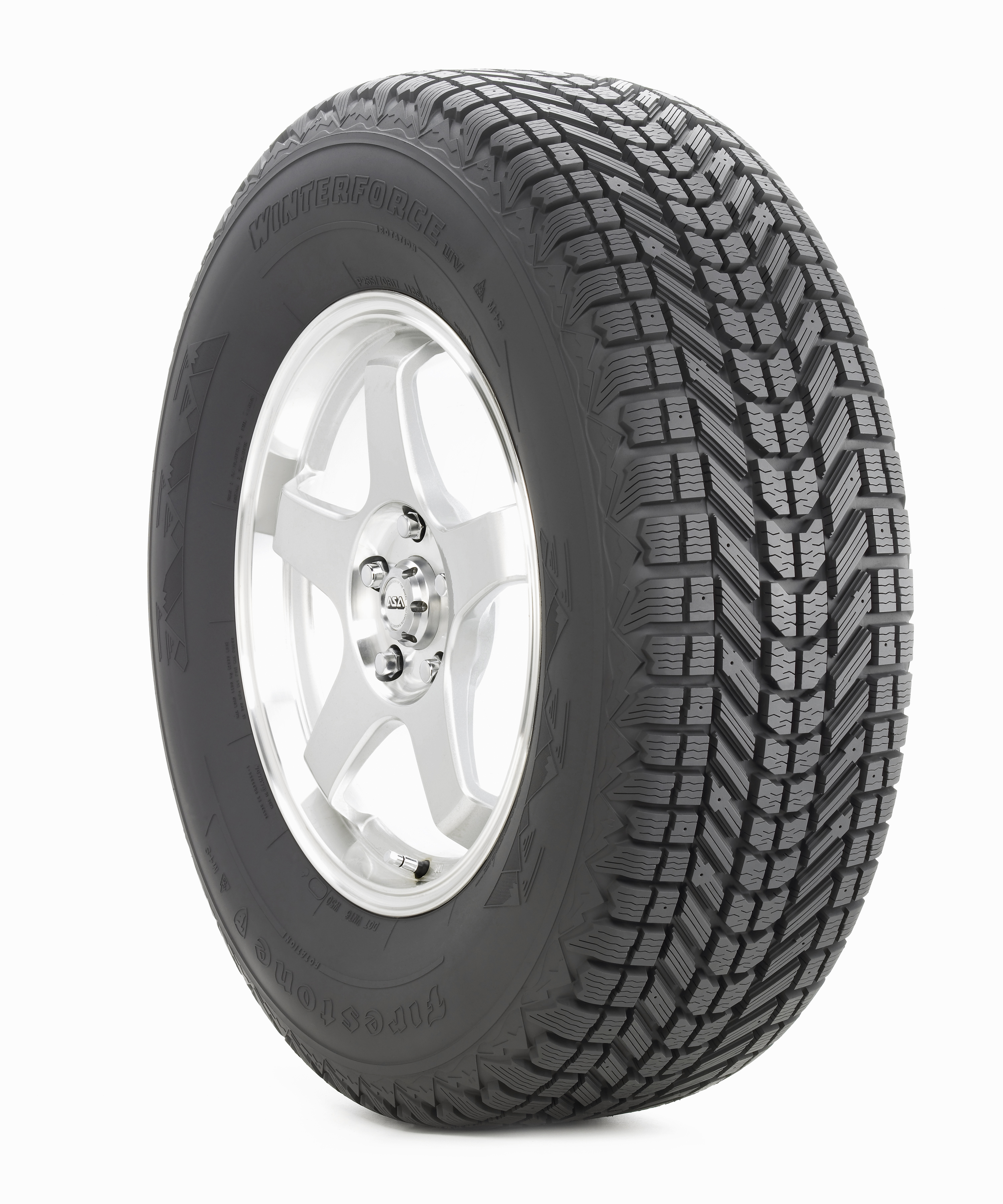 p225 75r15 firestone winterforce uv snow tire 102s. Black Bedroom Furniture Sets. Home Design Ideas