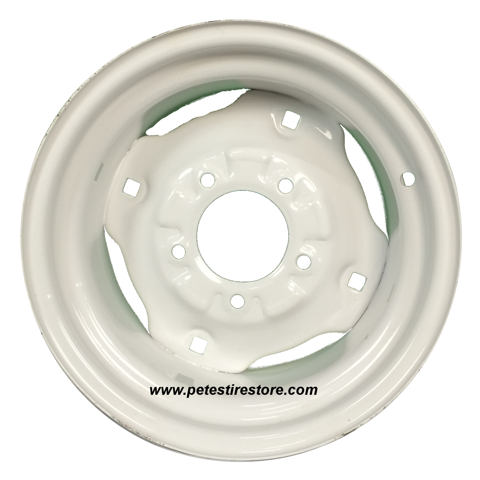 White Tractor Rims : White lawn tractor wheel on