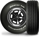 P205/60R15 BFGoodrich Radial T/A Tire (90S)