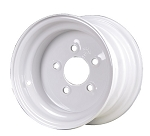 8x7 Carlisle White Trailer Wheel (5 Lug)