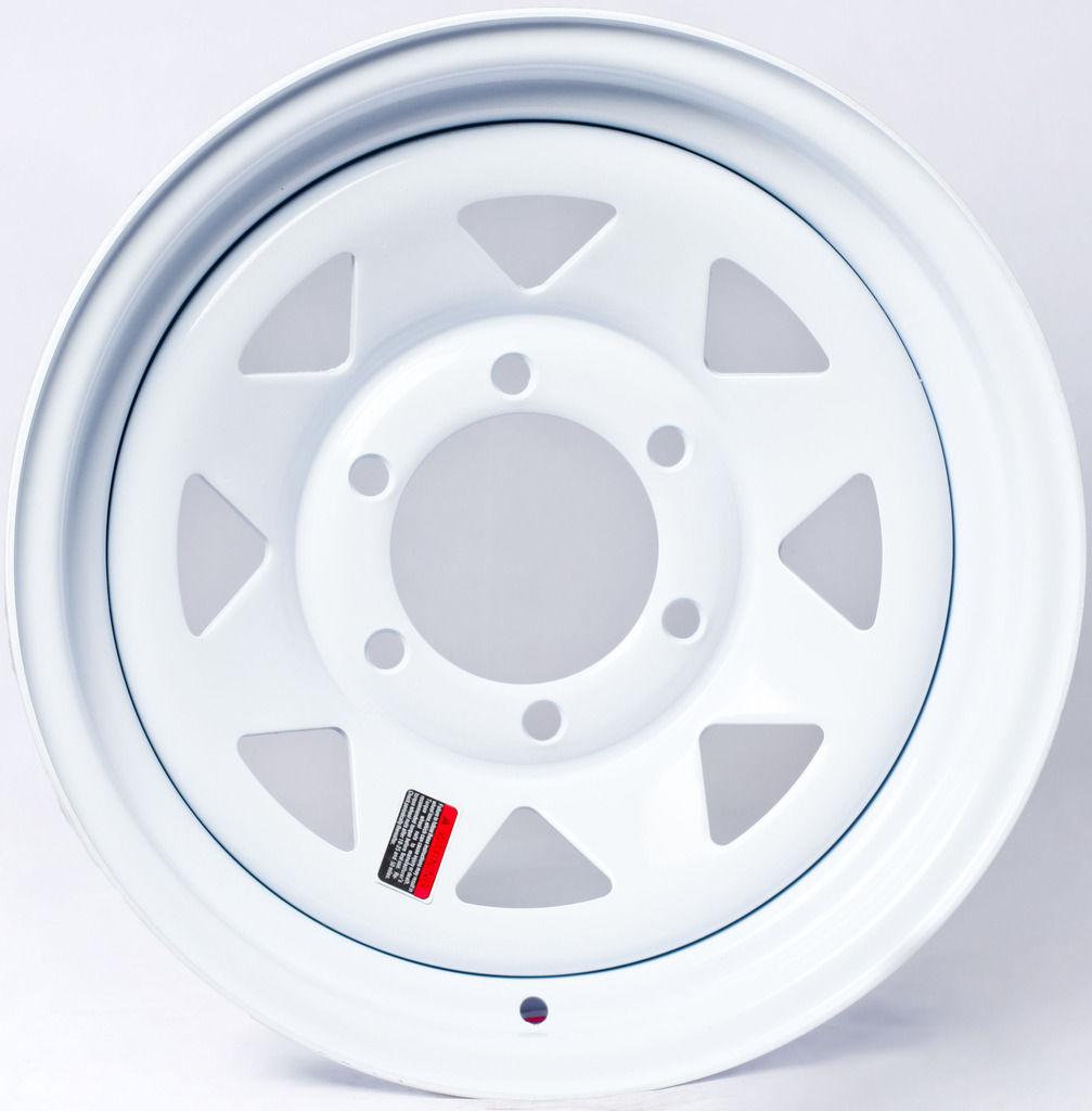 Tractor Wheel Bolt Patterns : Greenball white spoke trailer wheel lug