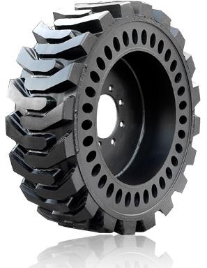31x6x10 Brawler Solidflex Skid Steer Tire Right