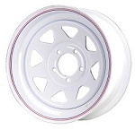 15x6 Carlisle White Spoke Trailer Wheel (5 Lug)