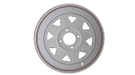 13x4.5 Carlisle White Spoke Trailer Wheel (4 Lug)