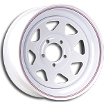 13x4.5 Carlisle White Spoke Trailer Wheel (5 Lug)