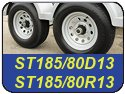 ST185/80D13 and ST185/80R13 Trailer Tires