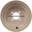 10x6 Greenball White Trailer Wheel (4 Lug)