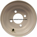 8x3.75 Greenball White Trailer Wheel (4 Lug)