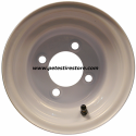8x7 Greenball White Trailer Wheel (4 Lug)