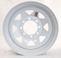 16x6 Greenball White Spoke Trailer Wheel (8 Lug)
