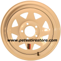 15x6 Greenball White Spoke Trailer Wheel (5 Lug) (5 on 5)