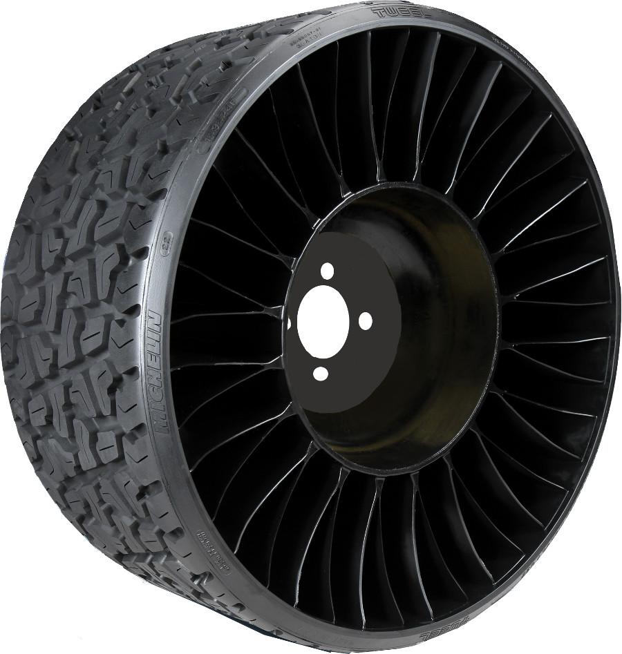 Tweel Tires For Sale >> 18x8.50-10 Michelin X Tweel Golf Cart Radial Tire and Wheel (205/50-10)