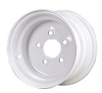 8x5.375 Carlisle White Trailer Wheel (5 Lug)