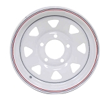 12x4 Americana White Spoke Trailer Wheel (5 Lug)