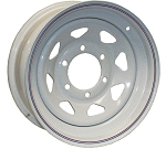 15x6 Americana White Spoke Trailer Wheel (6 Lug)