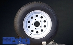 ST145R12 Carlisle Radial Trail HD Trailer Tire and Wheel (8 Ply) (5 Lug)