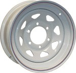16x6 Americana White Spoke Trailer Wheel (8 Lug)
