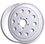 15x6 Carlisle Highway Supreme White Trailer Wheel (5-4.5 Lug)
