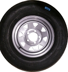 ST185/80D13 Carlisle Sport Trail LH Trailer Tire and Wheel (LRC) (5 Lug)