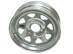 15x6 Carlisle Galvanized Eight Spoke Trailer Wheel (5 Lug)
