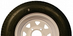 5.30-12 Greenball Towmaster Trailer Tire and White Wheel (LRC) (4 Lug)