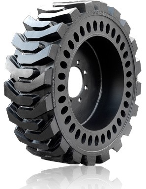 36x14-20 Brawler HPS Solidflex Skid Steer Tire and Wheel (Right) (14-17.5)