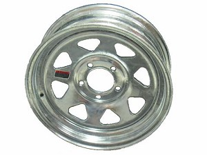 13x4 Carlisle Galvanized Eight Spoke Trailer Wheel (5 Lug)