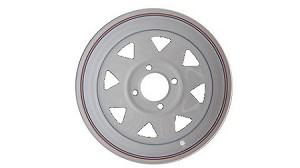 12x4 Carlisle White Spoke Trailer Wheel (4 Lug)