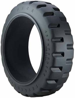 18x7x12-1/8 Trelleborg ORCA Press On Solid Forklift Tire (Traction)