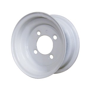 8x5.375 Carlisle White Trailer Wheel (4 Lug)