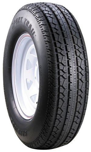 ST205/75D15 Carlisle Sport Trail Trailer Tire and Wheel (LRC) (5 Lug)