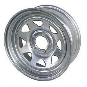 14x6 Carlisle Galvanized Eight Spoke Trailer Wheel (5 Lug)